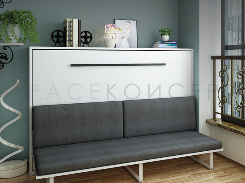 Cheap High Quality Space Saving Horizontal Murphy Wall Bed With Sofa