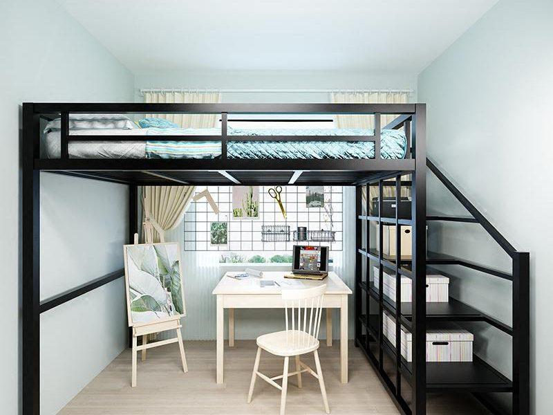 Modern Design Metal Loft Bed **Free Delivery & Installation